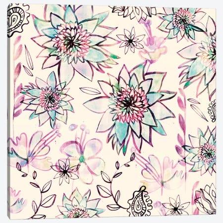 Tropical Blush Canvas Print #SFR157} by Sara Franklin Canvas Art Print
