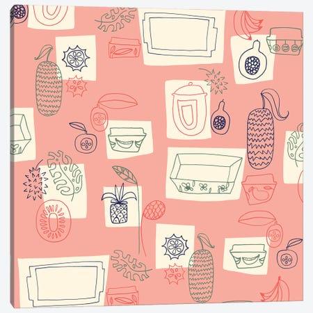 Tropical Kitchen Canvas Print #SFR159} by Sara Franklin Canvas Artwork