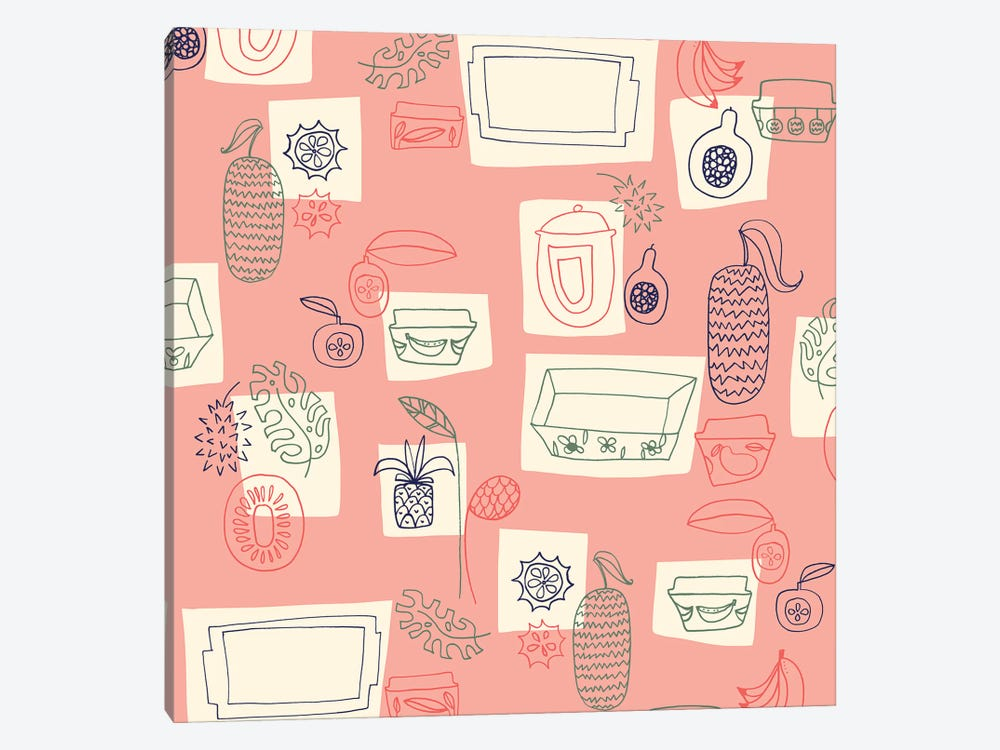 Tropical Kitchen by Sara Franklin 1-piece Canvas Artwork
