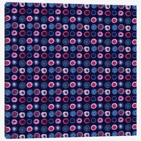 Blue Dots Canvas Print #SFR15} by Sara Franklin Canvas Art Print