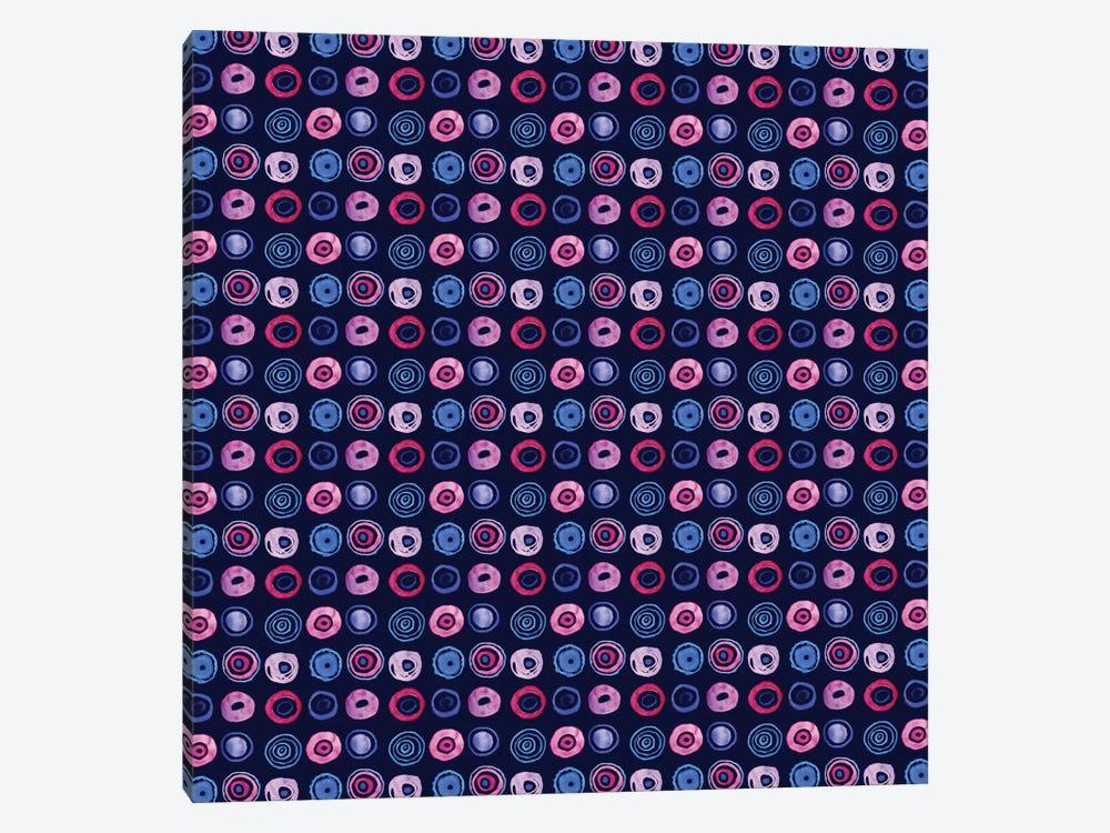 Blue Dots by Sara Franklin 1-piece Canvas Art