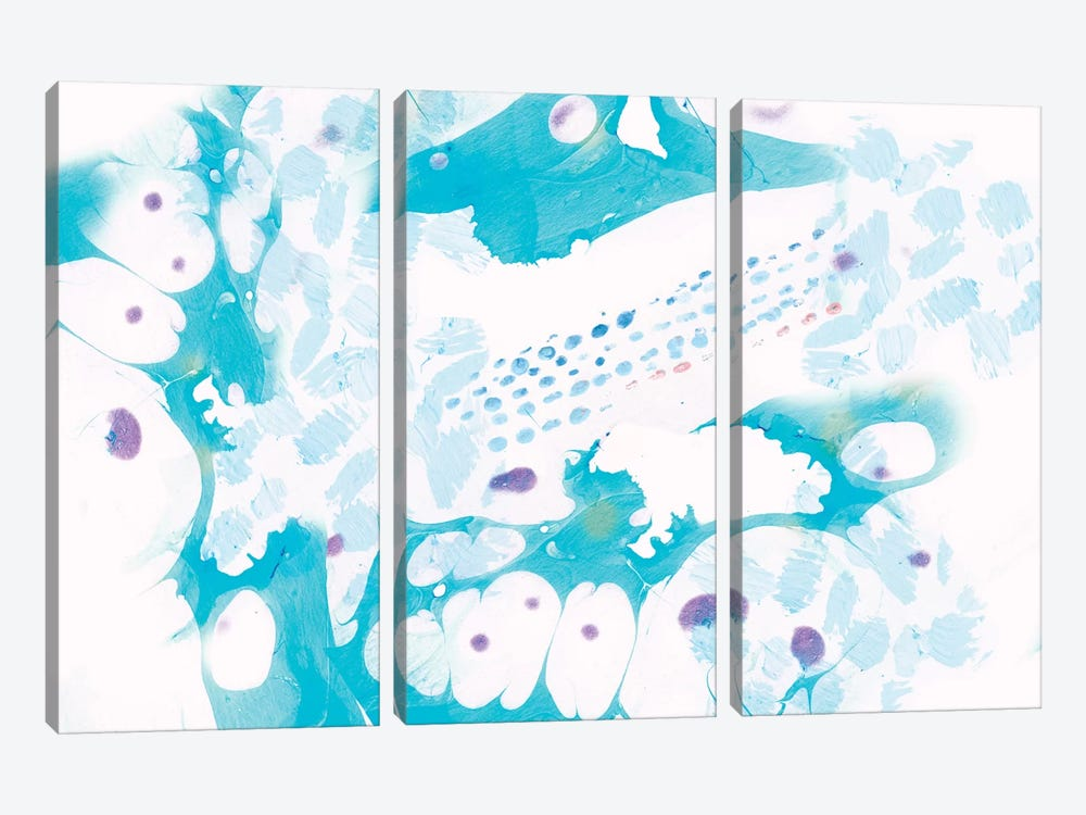 Turquoise Marble by Sara Franklin 3-piece Canvas Artwork