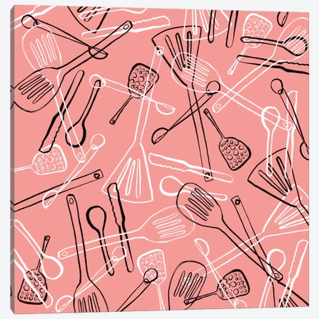Utensils Toss Canvas Print #SFR164} by Sara Franklin Canvas Wall Art