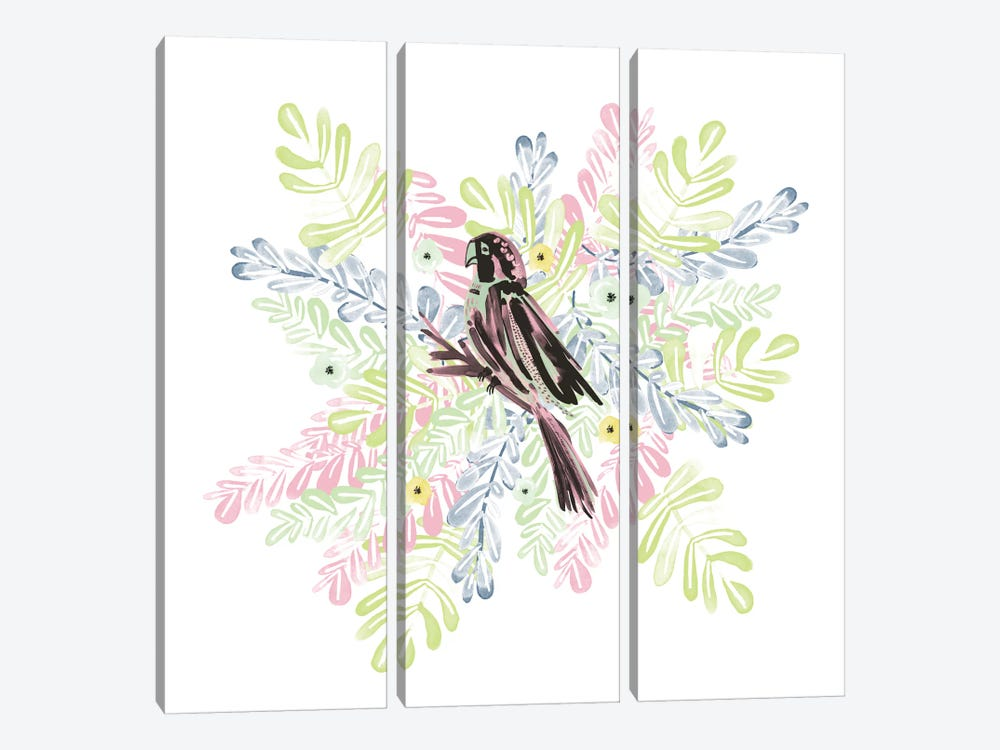 Wild Parrot by Sara Franklin 3-piece Canvas Artwork