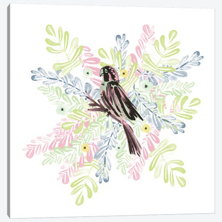 Wild Parrot Canvas Print #SFR166} by Sara Franklin Canvas Artwork