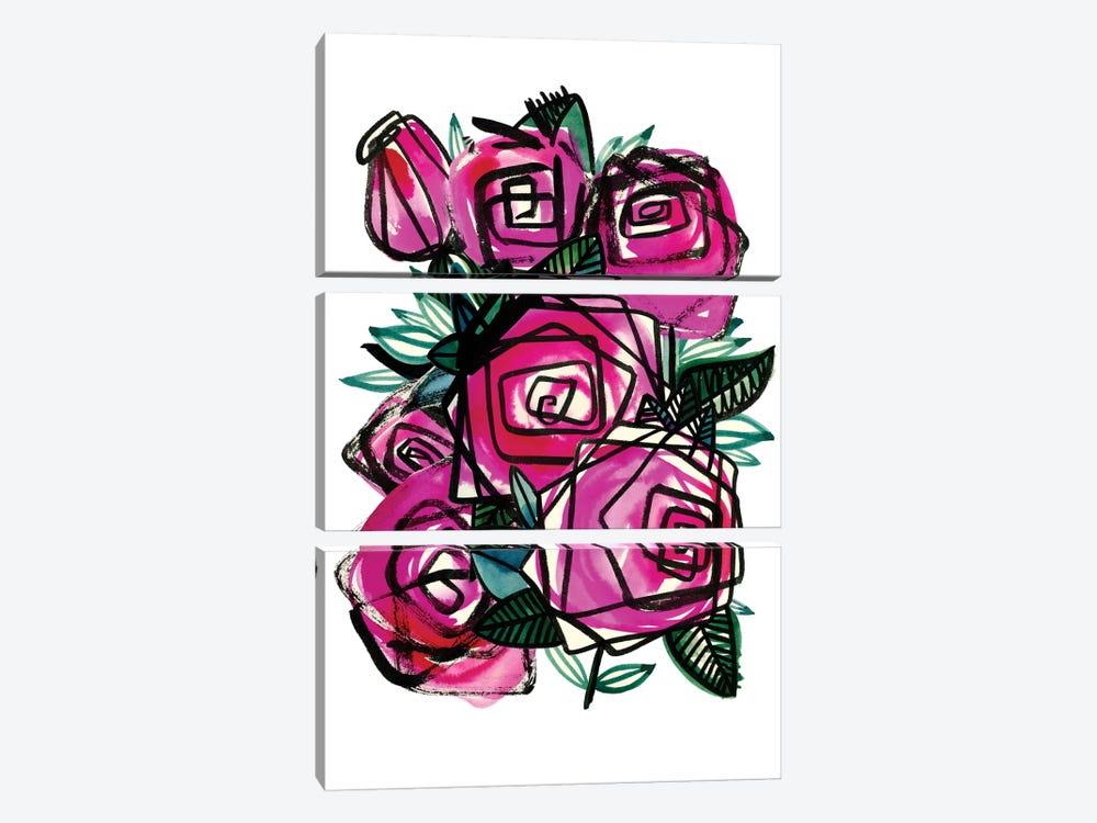 Wild Roses by Sara Franklin 3-piece Art Print