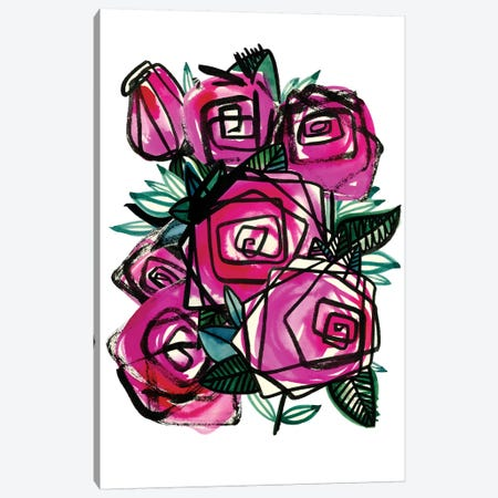 Wild Roses Canvas Print #SFR167} by Sara Franklin Canvas Art