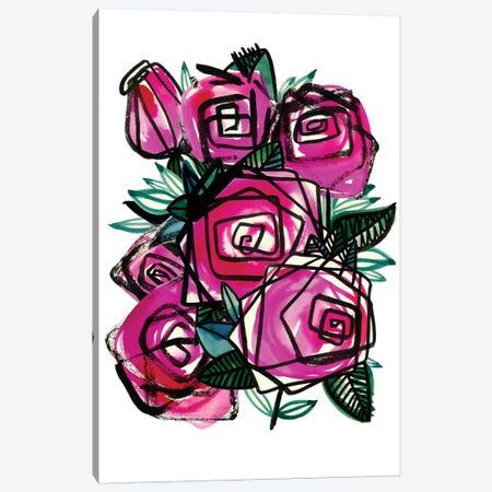 Wild Roses Canvas Print #SFR167} by Sara Franklin Canvas Art