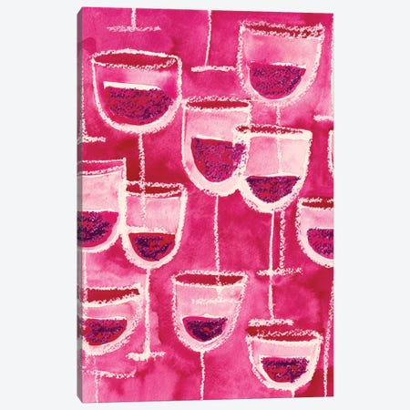 Wine Glasses Canvas Print #SFR168} by Sara Franklin Canvas Print