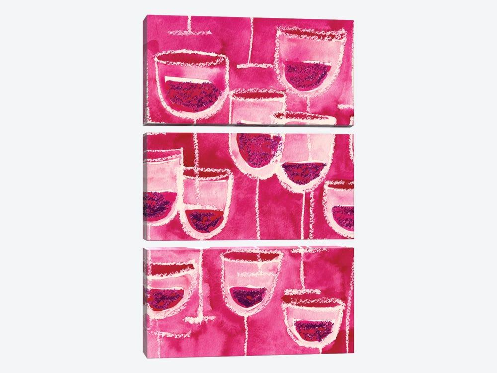 Wine Glasses by Sara Franklin 3-piece Canvas Artwork