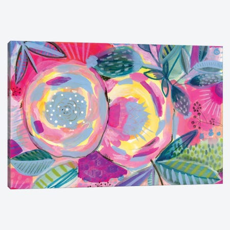 Yellow Rose Canvas Print #SFR171} by Sara Franklin Canvas Wall Art
