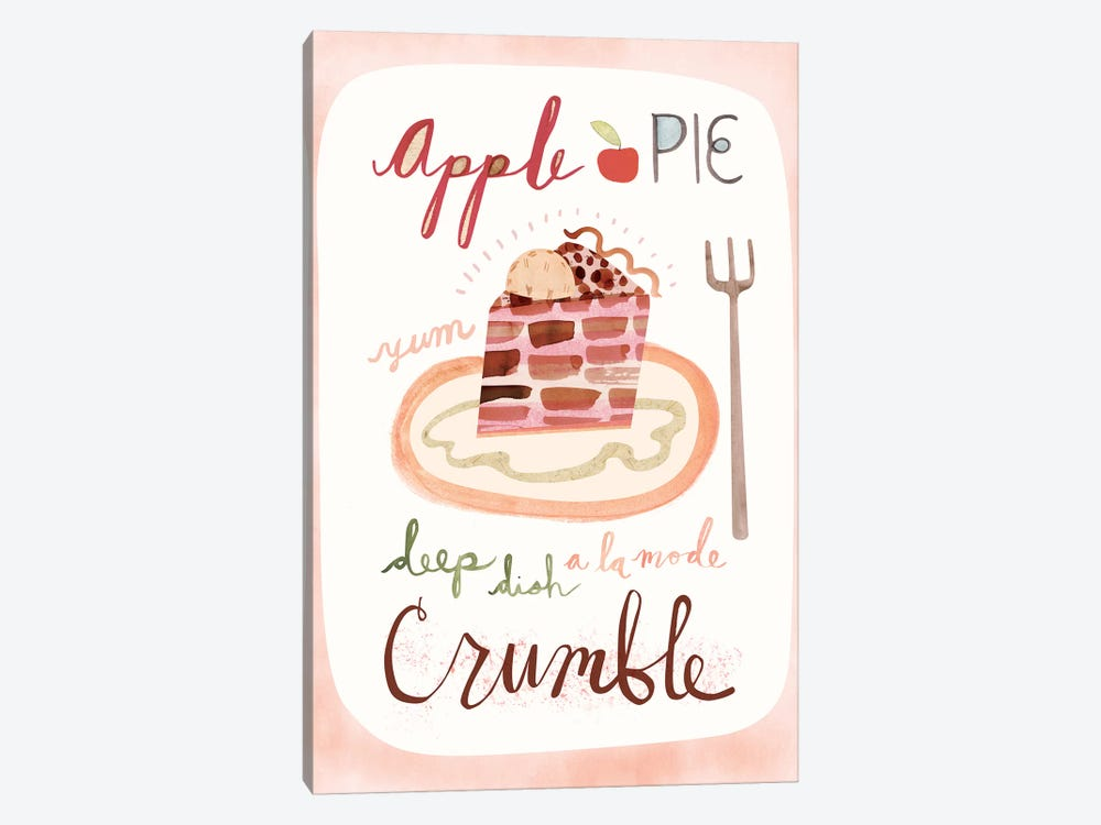 Apple Pie by Sara Franklin 1-piece Canvas Print