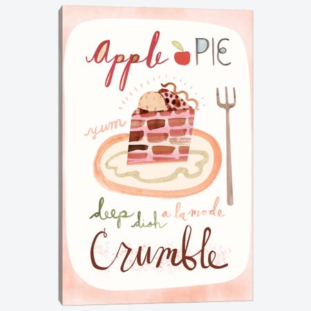 Apple Pie Canvas Print #SFR172} by Sara Franklin Canvas Wall Art