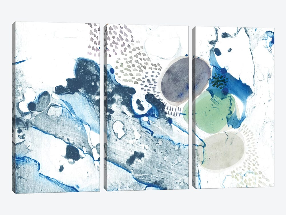 Blue Marble by Sara Franklin 3-piece Canvas Artwork