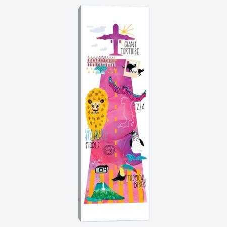 Global Traveler Canvas Print #SFR181} by Sara Franklin Art Print