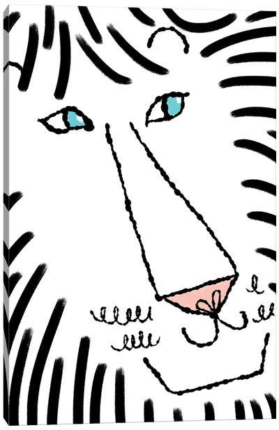Happy Lion Canvas Art Print