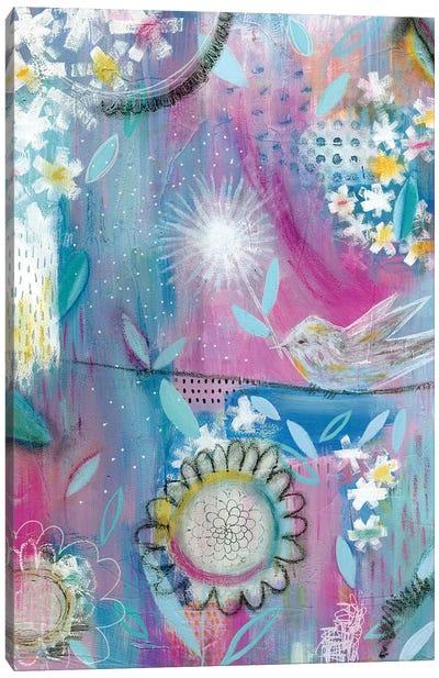 Pink Bird Canvas Art Print