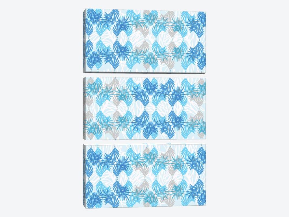 Blue Palms by Sara Franklin 3-piece Canvas Art Print