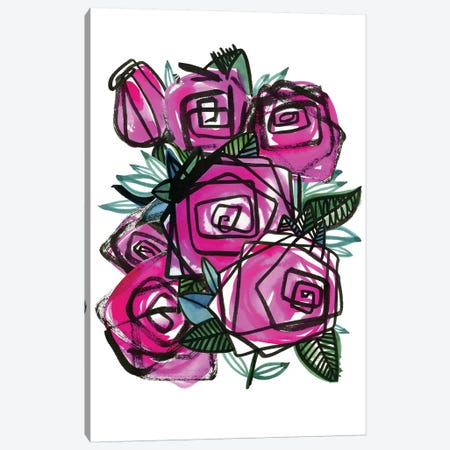 Roses Canvas Print #SFR190} by Sara Franklin Canvas Artwork