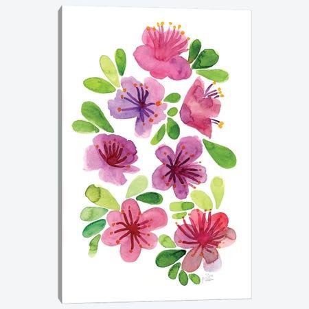 Pink Azaleas Canvas Print #SFR198} by Sara Franklin Canvas Wall Art
