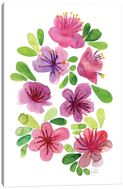 Pink Azaleas Canvas Art Print