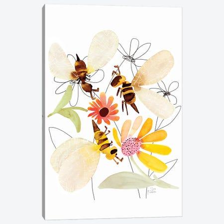 Bees Canvas Print #SFR199} by Sara Franklin Canvas Wall Art
