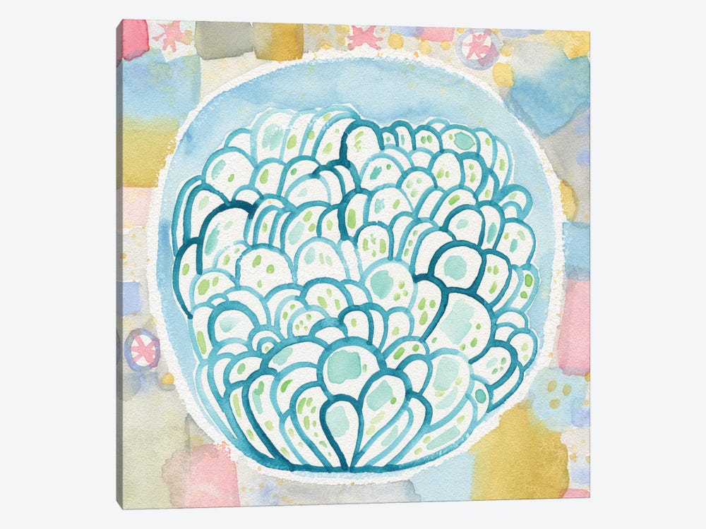Blue Terrarium by Sara Franklin 1-piece Canvas Art
