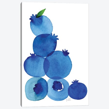 Blueberries Canvas Print #SFR201} by Sara Franklin Canvas Wall Art