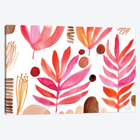 Burnt Leaves Canvas Print #SFR204} by Sara Franklin Art Print