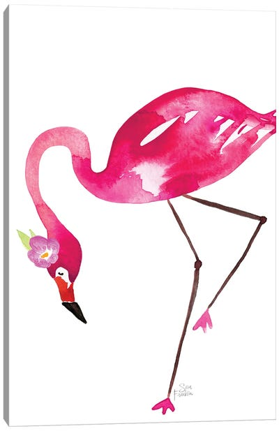 Flamingo Flaunt Canvas Art Print