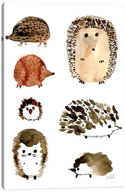 Hedgehogs Canvas Art Print