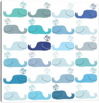 Blue Whales Canvas Art Print