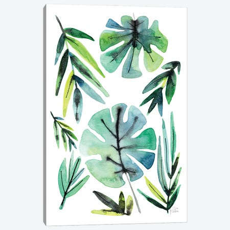 Tropical Leaves Canvas Print #SFR210} by Sara Franklin Canvas Art Print