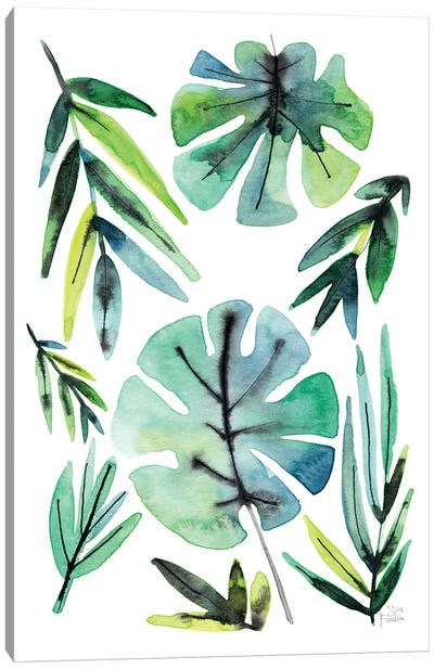 Tropical Leaves Canvas Art Print