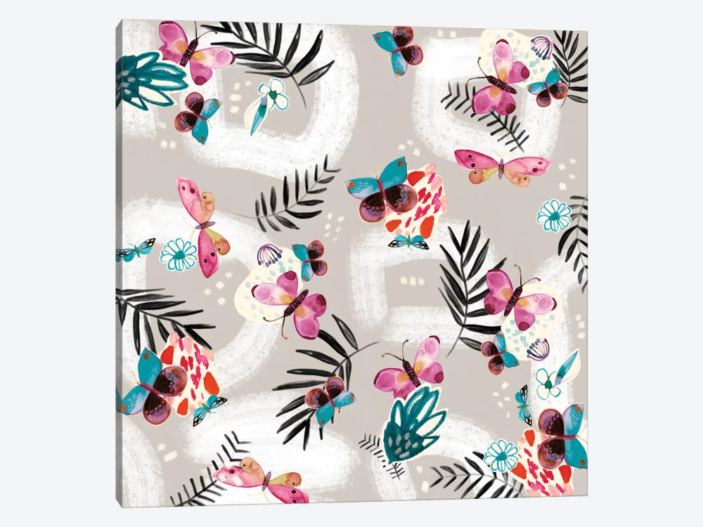 Butterfly Jungle by Sara Franklin 1-piece Canvas Art Print