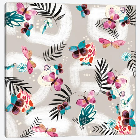 Butterfly Jungle Canvas Print #SFR25} by Sara Franklin Canvas Art