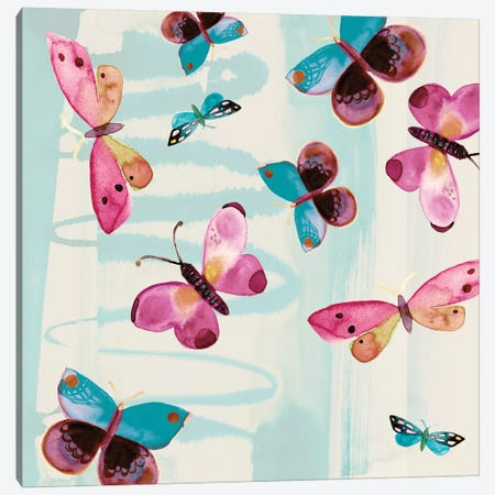 Butterfly Serendipity Canvas Print #SFR27} by Sara Franklin Canvas Wall Art