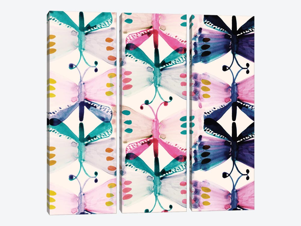Butterfly Wings by Sara Franklin 3-piece Canvas Artwork