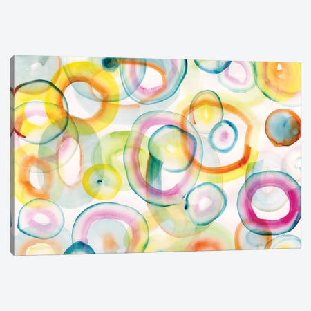 Chasing Yellow Canvas Print #SFR34} by Sara Franklin Canvas Print