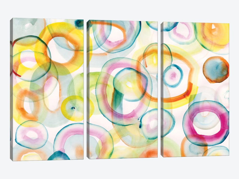 Chasing Yellow by Sara Franklin 3-piece Canvas Art Print