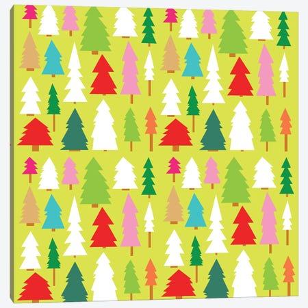 Christmas Trees Canvas Print #SFR36} by Sara Franklin Art Print