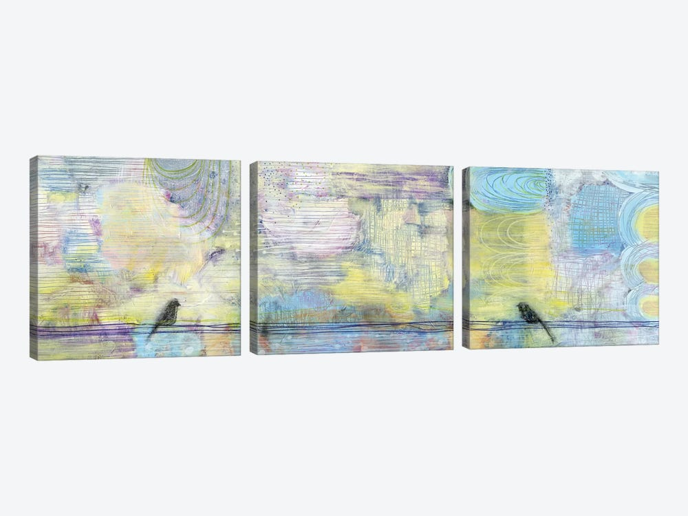 City Birds by Sara Franklin 3-piece Canvas Art