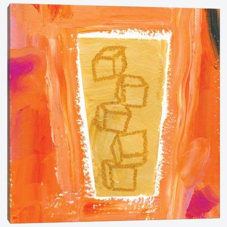Coffee Cubes Canvas Print #SFR38} by Sara Franklin Canvas Art