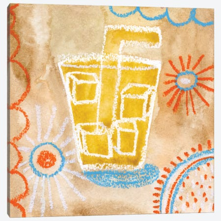 Coffee Time Canvas Print #SFR39} by Sara Franklin Canvas Wall Art