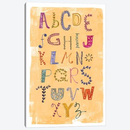 Alphabet Canvas Print #SFR3} by Sara Franklin Canvas Art Print
