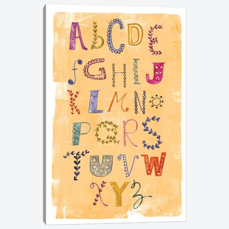 Alphabet Canvas Print #SFR3} by Sara Franklin Canvas Art Print