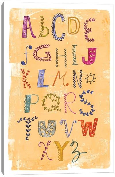 Alphabet Canvas Print #SFR3