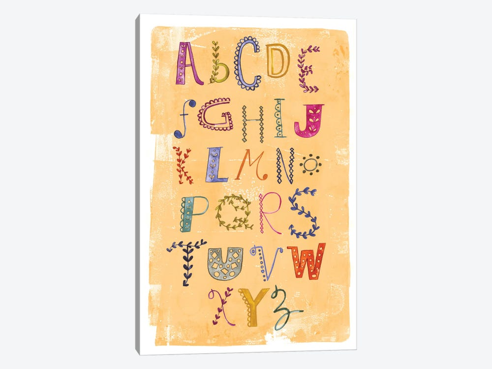 Alphabet by Sara Franklin 1-piece Canvas Wall Art