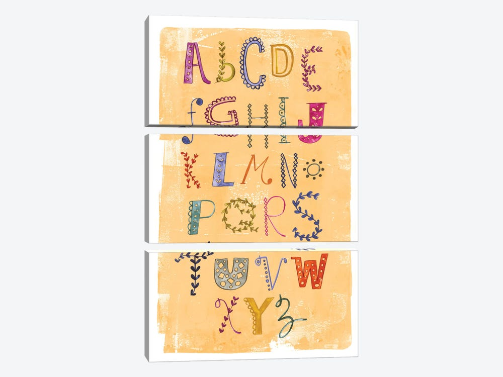 Alphabet by Sara Franklin 3-piece Canvas Art