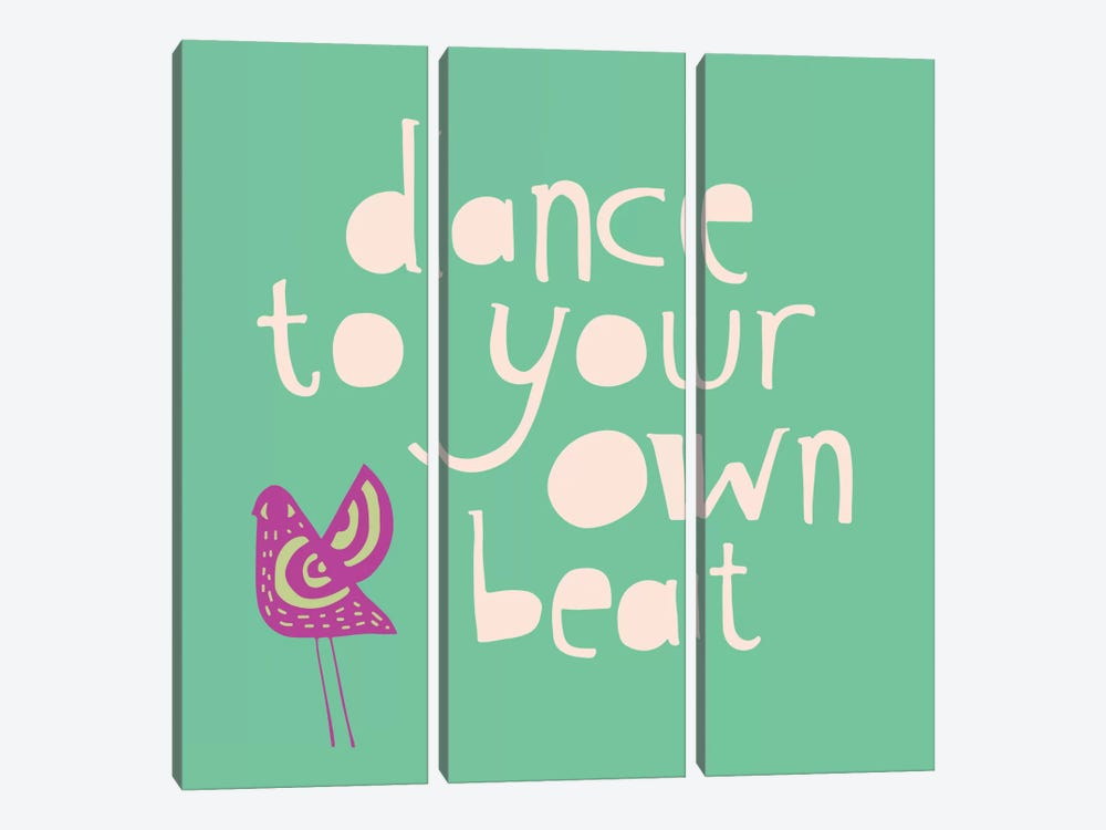Dance To Your Own Beat by Sara Franklin 3-piece Canvas Print